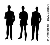 three businessmen or partners... | Shutterstock .eps vector #1022380807