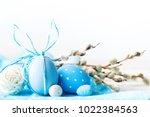 happy easter. congratulatory...   Shutterstock . vector #1022384563