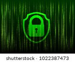 cyber security data privacy...   Shutterstock .eps vector #1022387473