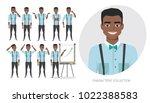 set of emotions for black... | Shutterstock .eps vector #1022388583