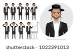 set of emotions for jew... | Shutterstock .eps vector #1022391013
