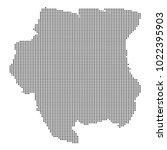 pixel mosaic map of suriname on ...