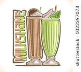 vector illustration of milkshake | Shutterstock .eps vector #1022397073