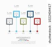 infographic template. vector... | Shutterstock .eps vector #1022404417