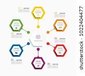 infographic template. vector... | Shutterstock .eps vector #1022404477