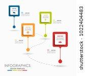 infographic template. vector... | Shutterstock .eps vector #1022404483