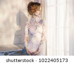 art fashion portrait of... | Shutterstock . vector #1022405173