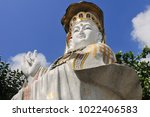 tin hau temple  causeway bay ... | Shutterstock . vector #1022406583