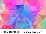 light multicolor  rainbow... | Shutterstock .eps vector #1022411707