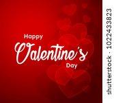 happy valentines day typography ... | Shutterstock .eps vector #1022433823