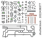 mega collection of road... | Shutterstock .eps vector #1022438377