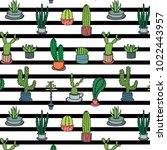 hand drawn tropical cactus... | Shutterstock .eps vector #1022443957