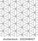 seamless ornamental vector...   Shutterstock .eps vector #1022448427
