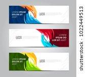 vector abstract design banner... | Shutterstock .eps vector #1022449513