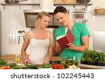 couple in the kitchen | Shutterstock . vector #102245443