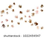 hands with skin color diversity ... | Shutterstock .eps vector #1022454547