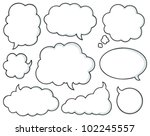 comics bubbles collection 1  ... | Shutterstock .eps vector #102245557
