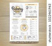 vintage bakery menu design.... | Shutterstock .eps vector #1022461963