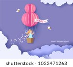 card for 8 march womens day.... | Shutterstock .eps vector #1022471263