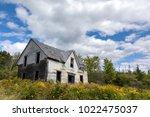 derelict house in new brunswick ... | Shutterstock . vector #1022475037