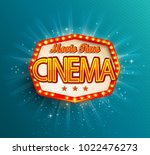 the movie time  cinema text in... | Shutterstock . vector #1022476273