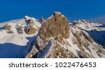 mountain top in winter  ciucas... | Shutterstock . vector #1022476453