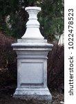 front view of stone pillar... | Shutterstock . vector #1022478523