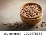 raw organic chickpeas in a...   Shutterstock . vector #1022478553