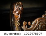 side view closeup detail of... | Shutterstock . vector #1022478907