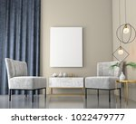 mock up interior background... | Shutterstock . vector #1022479777