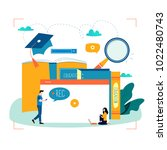 education  video tutorial ... | Shutterstock .eps vector #1022480743