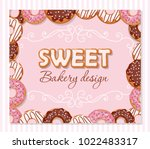 happy birthday baby sweet hand... | Shutterstock .eps vector #1022483317