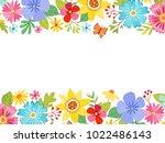 spring landscape background... | Shutterstock .eps vector #1022486143