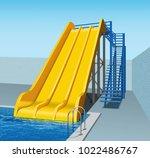 vector illustration of yellow... | Shutterstock .eps vector #1022486767