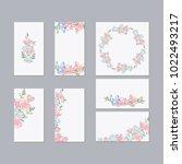 set of flower wedding ornament... | Shutterstock .eps vector #1022493217