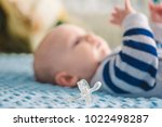 little newborn baby with... | Shutterstock . vector #1022498287
