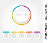 modern infographics with five... | Shutterstock .eps vector #1022505283