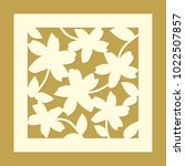 flowers ornament. laser cut... | Shutterstock .eps vector #1022507857