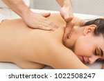 body massage at physiotherapist ... | Shutterstock . vector #1022508247