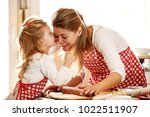 mum and daughter spending time... | Shutterstock . vector #1022511907