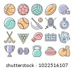 collection of outlined icons ...   Shutterstock . vector #1022516107