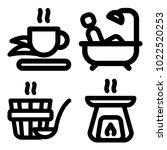 icons wellness and spa. vector... | Shutterstock .eps vector #1022520253