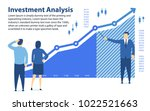 analysis of investment. banner... | Shutterstock .eps vector #1022521663