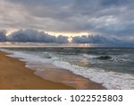 dramatic sky on a morning... | Shutterstock . vector #1022525803