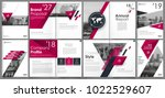 abstract white a4 brochure... | Shutterstock .eps vector #1022529607