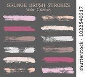 modern watercolor daubs set ... | Shutterstock .eps vector #1022540317