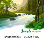 Tropical Jungle Trees And Fres...