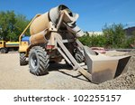 concrete mixer at road...   Shutterstock . vector #102255157