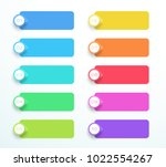 vector banners with arrow point ... | Shutterstock .eps vector #1022554267