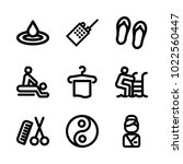 icons wellness and spa. vector... | Shutterstock .eps vector #1022560447